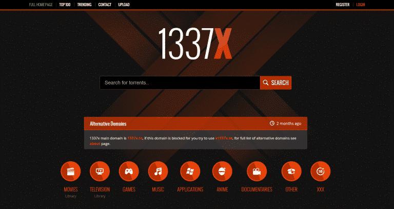 kickass torrents alternatives- 1337x