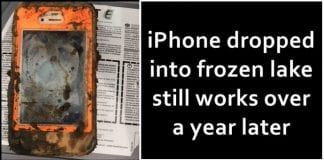 Man Finds An iPhone Dropped Into Frozen Lake, Still Working A Year Later