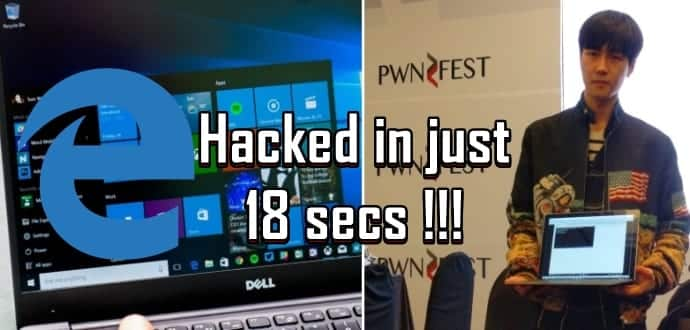 Microsoft's Edge Browser hacked in just 18 secs at PwnFest