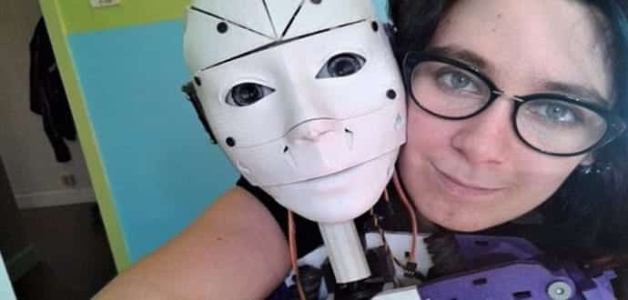 This woman is madly in love with a Robot, got engaged to it and wants to marry it