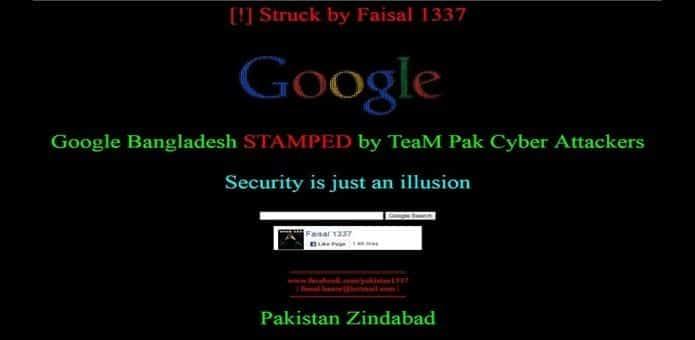 Pakistani hackers hack Google Bangladesh domain through DNS hijacking
