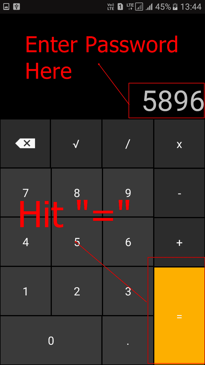 How to hide your top secret files inside the Calculator on your