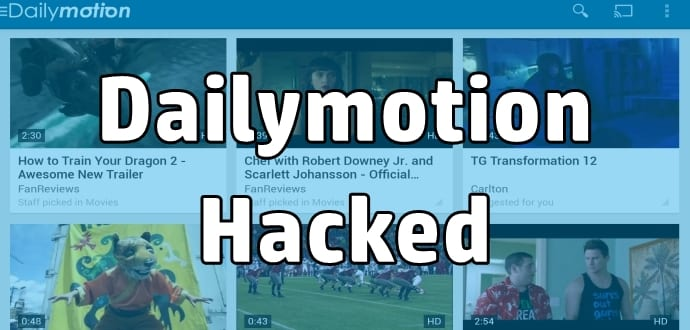 DailyMotion hacked, 85 million usernames, emails and passwords stolen