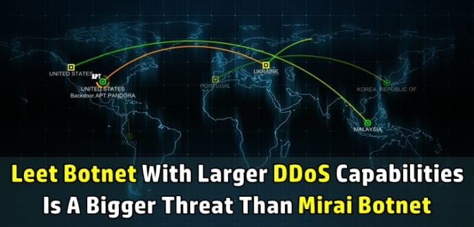 Leet Botnet with 650 Gbps DDoS capability is bigger than Mirai Botnet