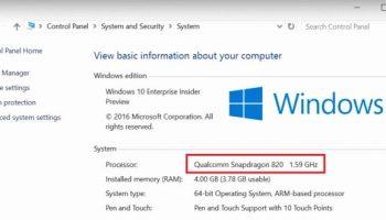 Qualcomm's Snapdragon processors to run full Windows 10