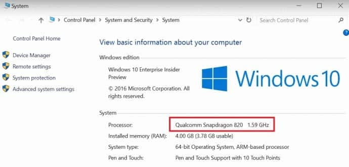 Qualcomm's Snapdragon processors to run full Windows 10