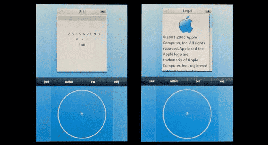 Early iPhone prototype had an iPod-like interface and a digital click wheel