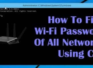 How to find Wi-Fi password of all Connected Networks using CMD