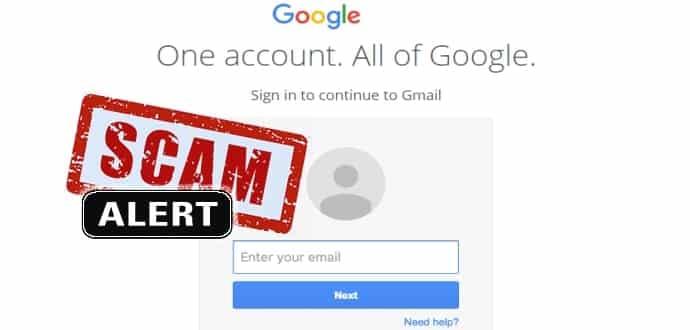 Risultati immagini per phishing via Gmail