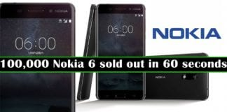 100,000 Nokia 6 gone in 60 seconds in a flash sale in China