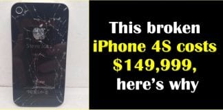 This broken iPhone 4s is listed up for sale for a mammoth $149,999 on eBay, here's why