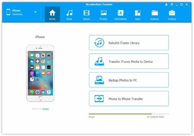Steps to transfer files from PC to iPhone: