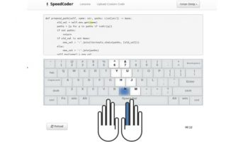Typing practice for coders with all programming languages like C, Java, C#, C++, JavaScript HTML, Ruby, Python etc