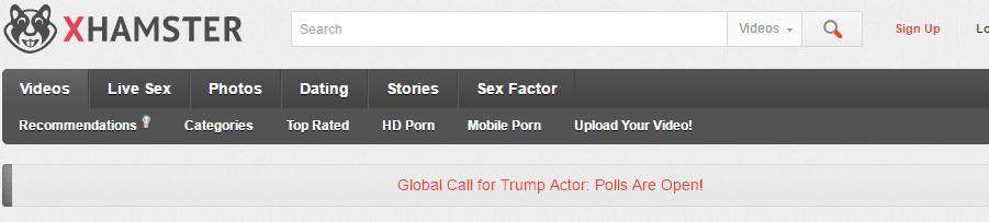 """The clips sees the Trump impersonator say: """"Yeah, we're gonna go out tonight."""" Gesturing to a Melania Trump lookalike, he goes on: """"I'm gonna be with this pig, horrible woman, but we're gonna do our best!"""" xHamster has confirmed the winner will definitely be having sex on camera. The porn giant announced the global casting call for Trump impersonators in November."""