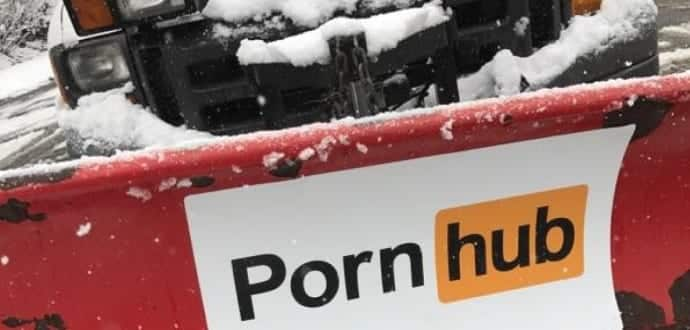 PornHub offers to 'plow' snow in Boston and New Jersey