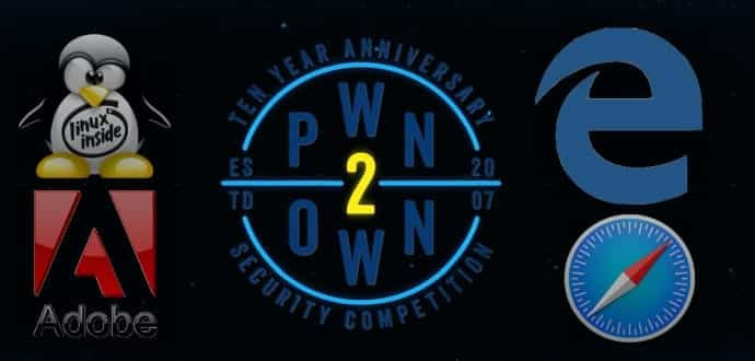 Adobe Reader, Edge, Safari, And Ubuntu Hacked During First Day At Pwn2Own