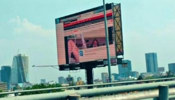 Someone hacked a giant electronic Billboard in Mexico City to show Xvideos clips