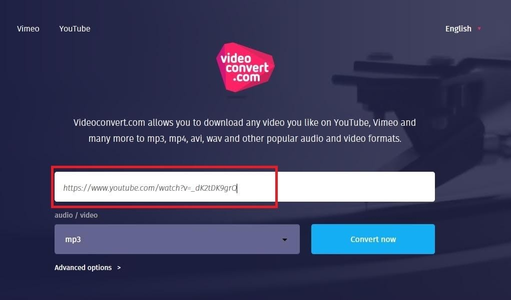 Choose the video or audio format you want your file to convert into
