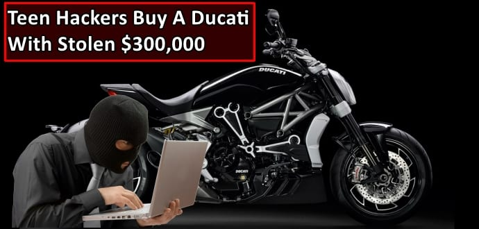 Teenage Hackers Buy Ducati After Stealing $300,000 Worth Of Airline Tickets