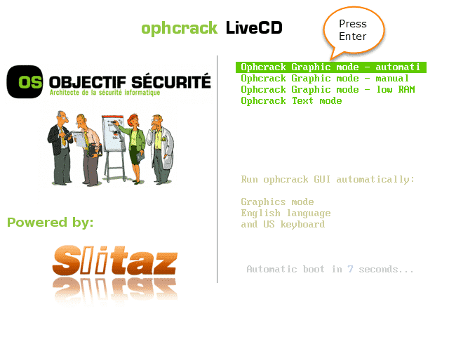 Method 1: Using Ophcrack Live CD