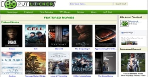 Movie streaming website Putlocker.ch is down; Here are the three ...