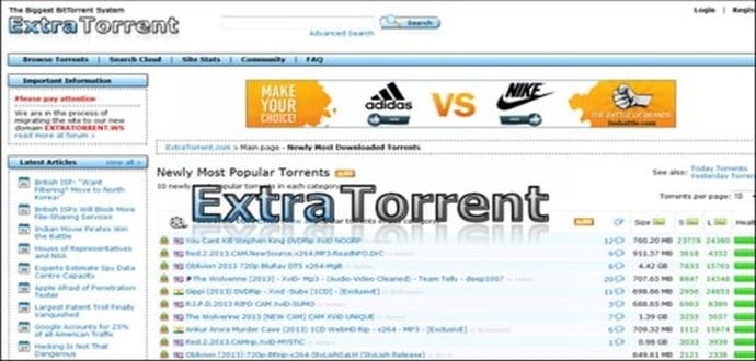 Extratorrent is down , here are top 3 alternatives