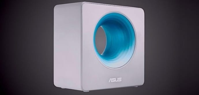 "This ""Bladeless Fan"" From Asus Is Actually A Wi-Fi AC Router With Blue Hole On It"