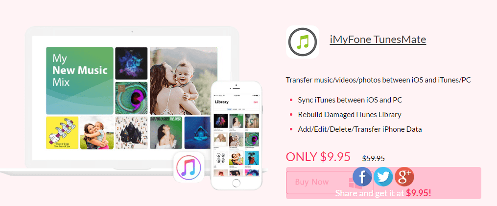iMyFone TunesMate iPhone Data Transfer