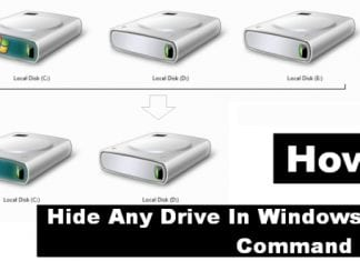 How To Hide Any Drive In Windows Using Command Prompt