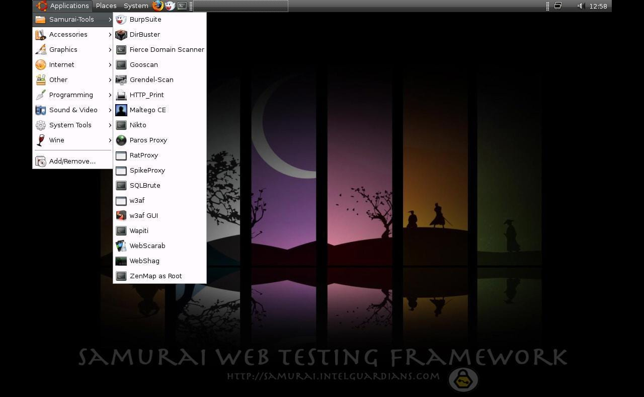 Favourite Operating Systems Of Hackers - Samurai Web Testing Framework