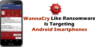 WannaCry Ransomware Lookalike Targeting Android Smartphones