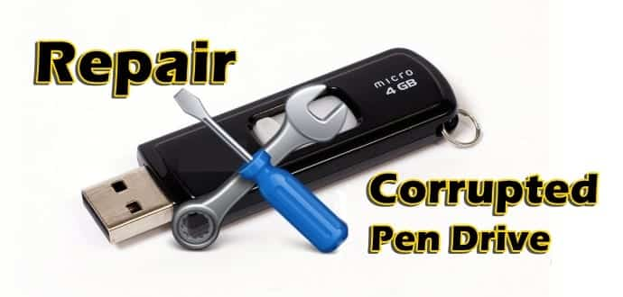 How To Fix A Corrupted USB Pen Drive
