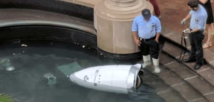 Security Robot Commits Suicide By Drowning Itself In A Fountain
