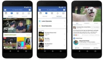Facebook announces Watch, a personalized video platform