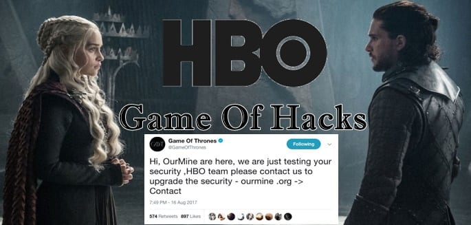 HBO's And Game Of Thrones' Facebook And Twitter Accounts Hacked