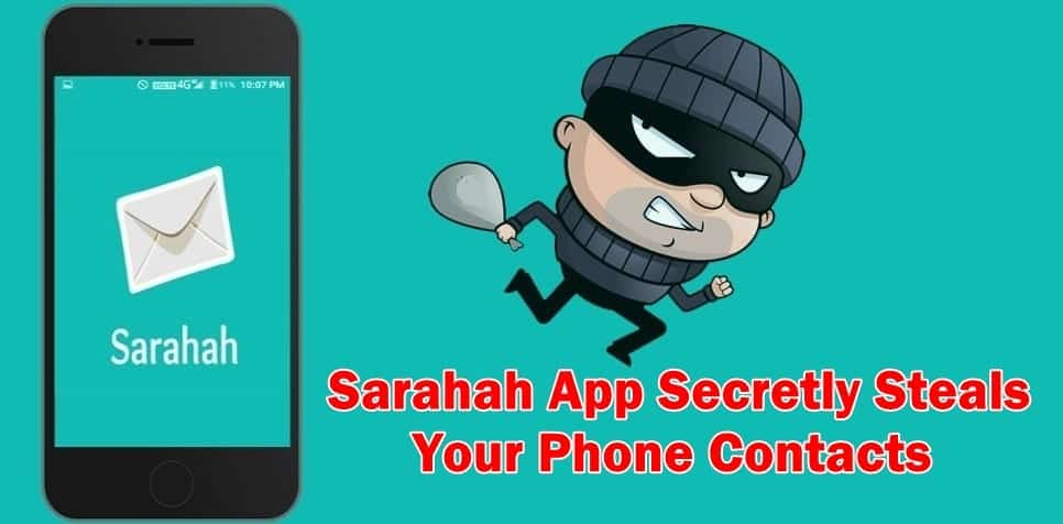 Sarahah app uploads your address book without your knowledge » TechWorm