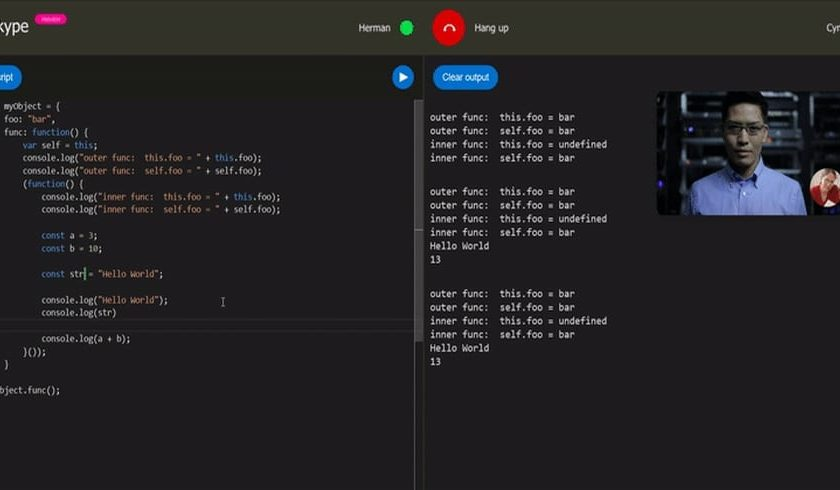 Skype Launches New Real-Time Code Editor For Coding Interviews