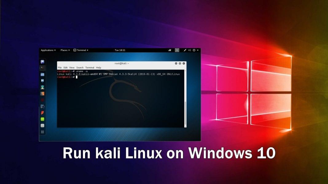 Run kali Linux on Windows 10 in Docker