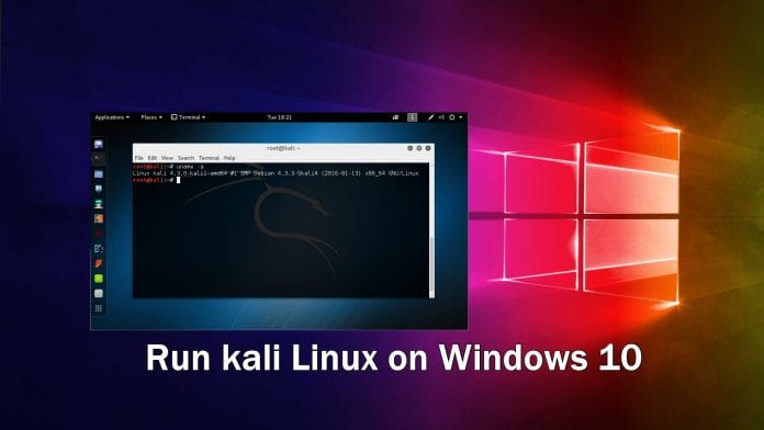 Run kali Linux on Windows 10 in Docker