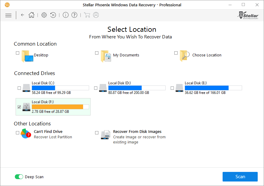 Recover any lost/corrupted data with Stellar Phoenix Windows Data Recovery Pro