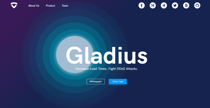 Gladius will Protect and Accelerate your Website Through Blockchain Technology