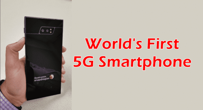 This is how the world's first 5G smartphone looks like