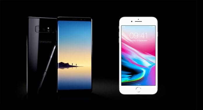 Samsung Galaxy Note 8 wins over Apple iPhone 8 Plus in speed test