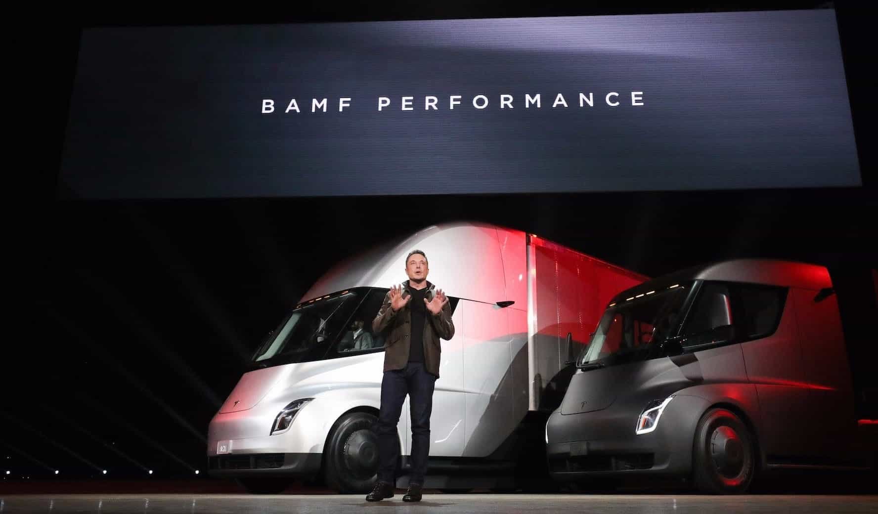 Tesla published a sketch of a huge electric truck
