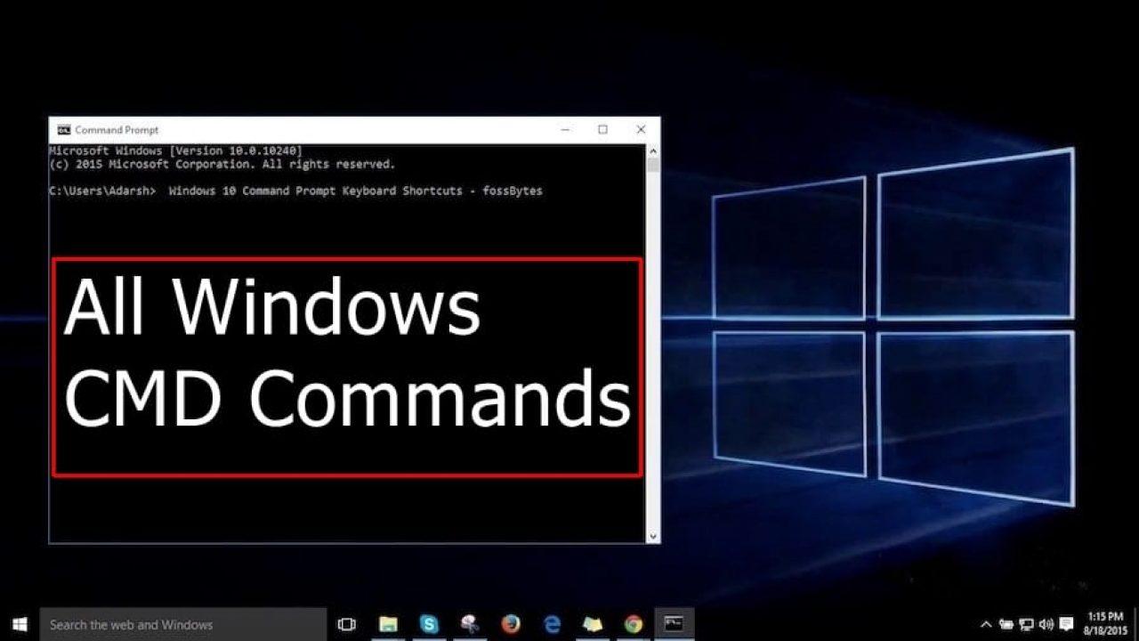 A-Z Windows CMD Commands List- 2019