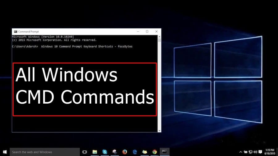 A-Z Windows CMD Commands List