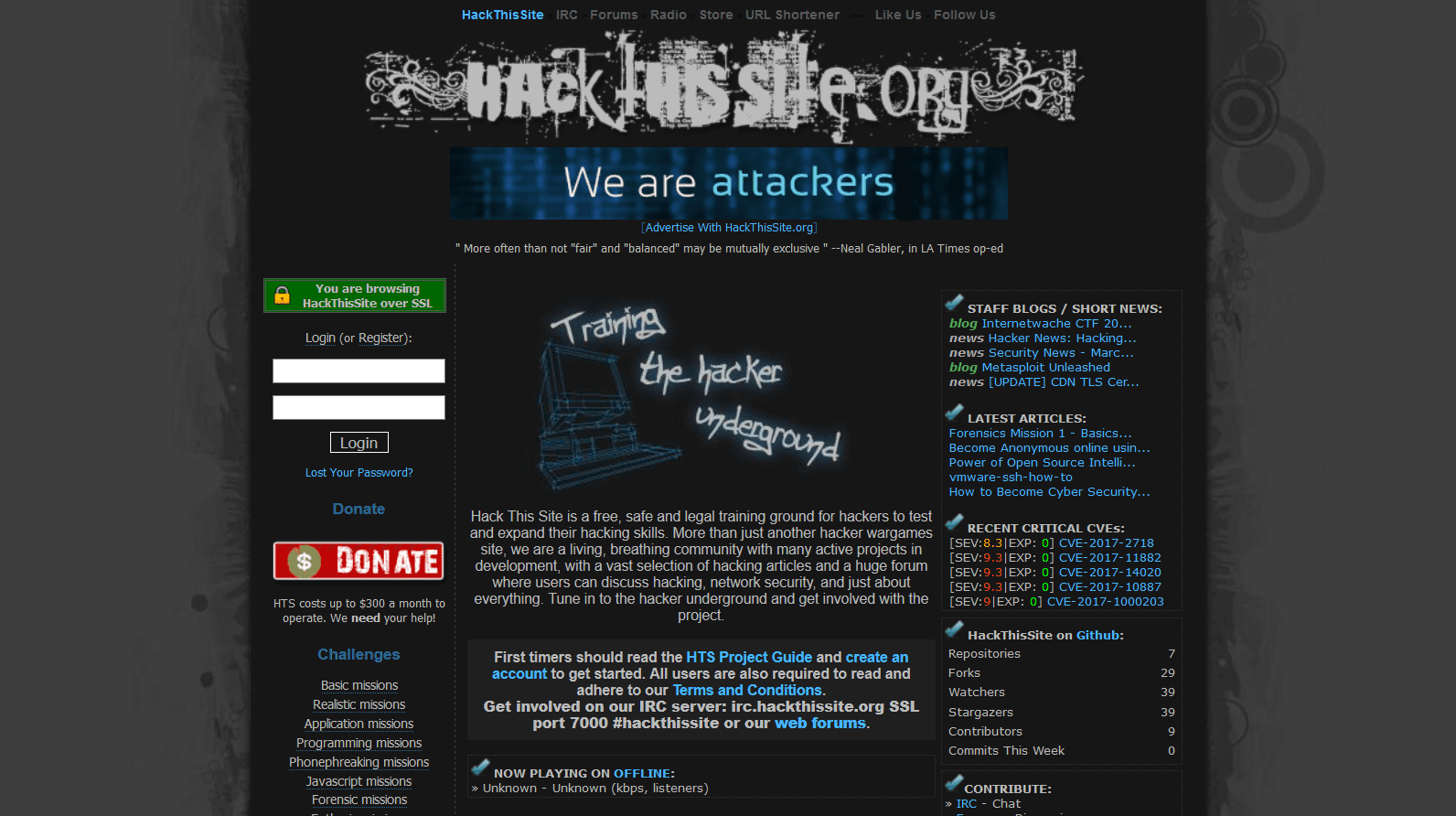 Best Websites To Learn Ethical Hacking - HackThisSite
