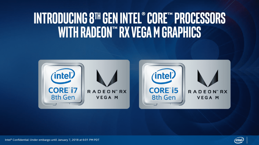 Intel announces 8th Gen Processor with AMD Radeon RX Vega M graphics