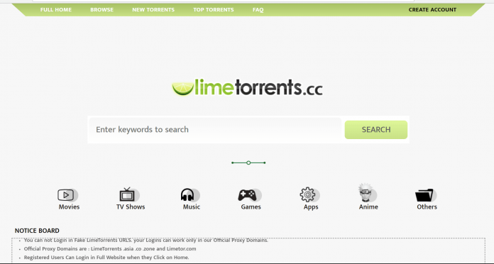 Top 10 best torrent sites- limetorrents