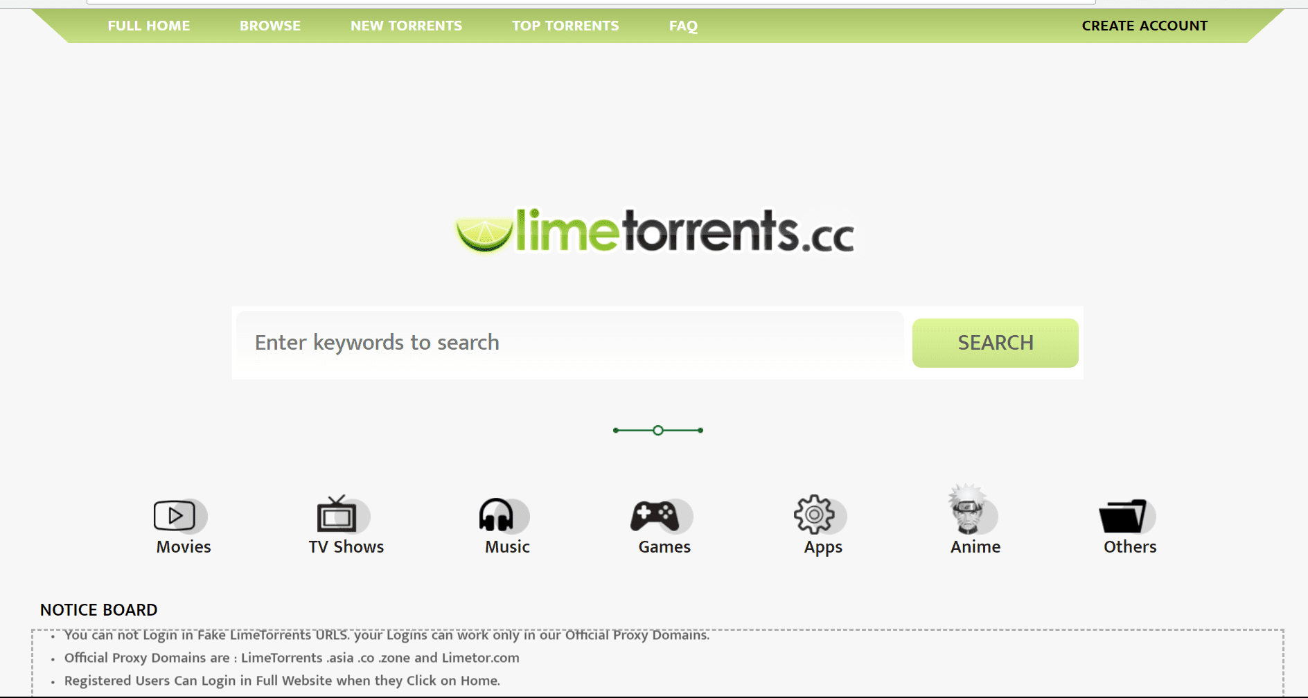 limetorrents- Best torrent sites